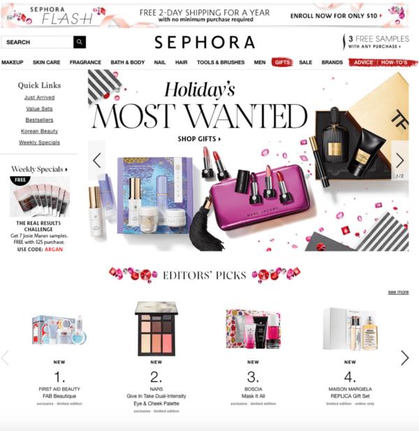 Home page Sephora